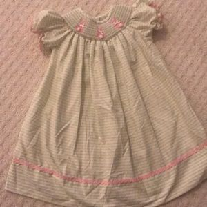 Classic whimsy smocked bunny dress 18 months